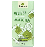 Vegan Matcha White Chocolate - image courtesy of www.alnatura.de