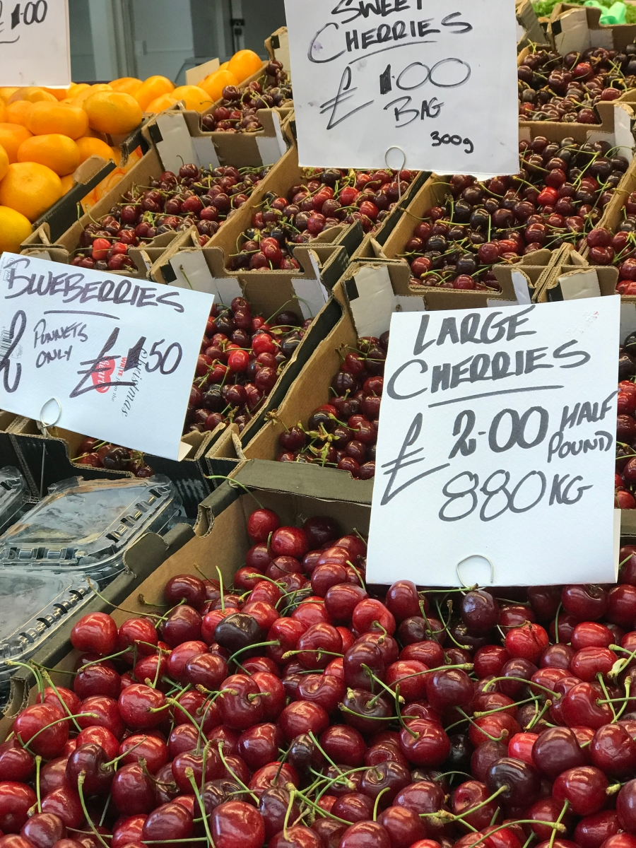 Cardiff Indoor Market Cherries