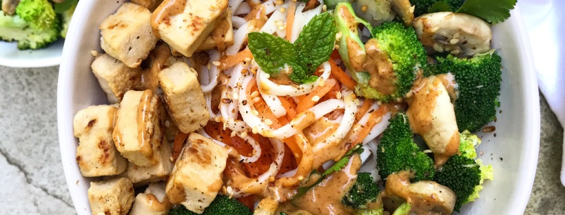 Noodles and Coodles with Spicy Almond Satay