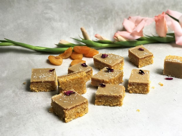 Raw Ginger and Apricot Crunch Bars