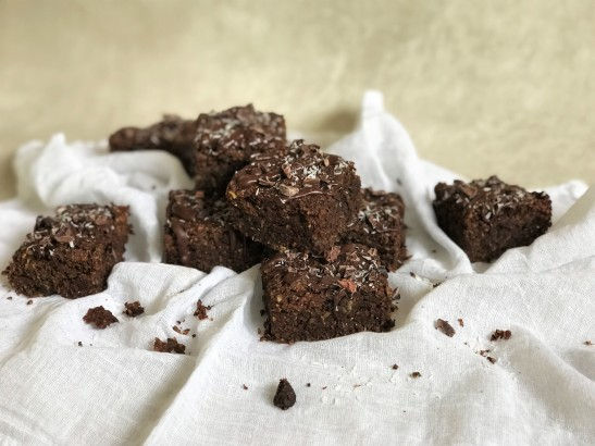 Date and Oat Coconut Brownies
