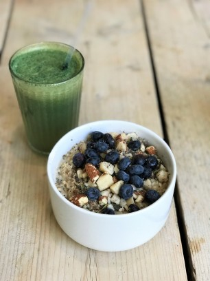 Chia Naturally Healthy Porridge and Green Juice 1