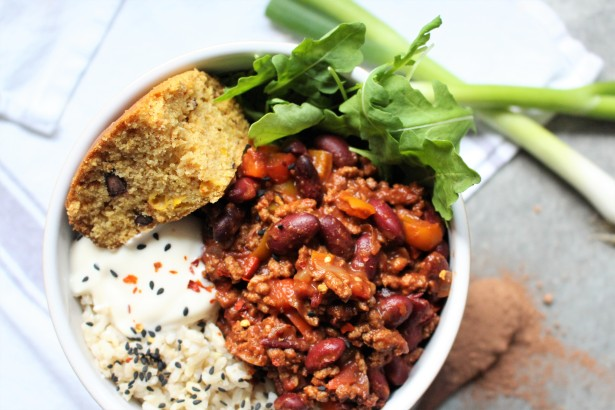 Sunflower Mince and Kidney Bean Chilli