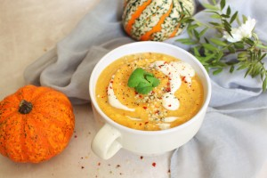 Rosemary Roasted Butternut Squash and Hemp Soup