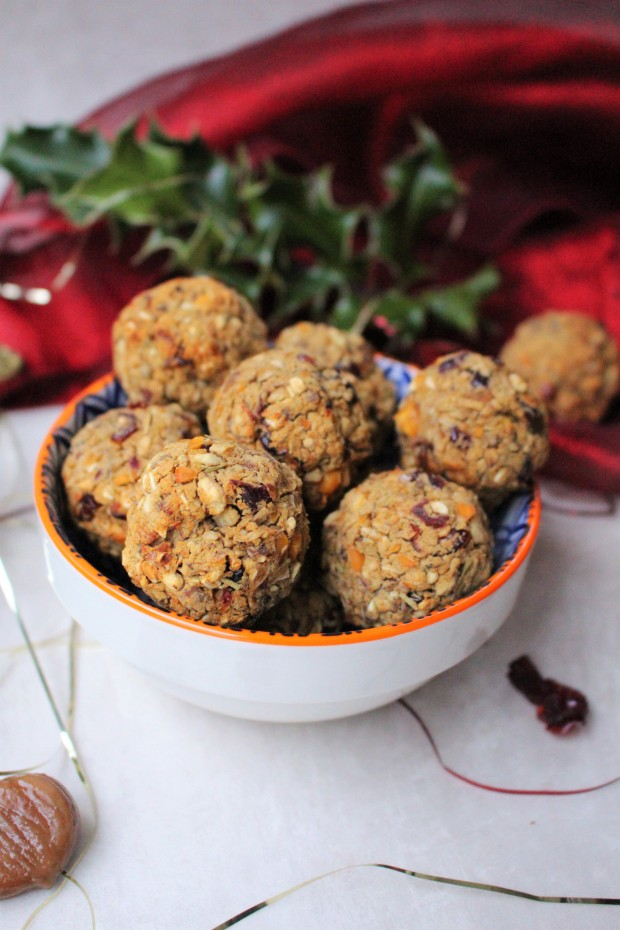 Chestnut and Cranberry Stuffing Falafels