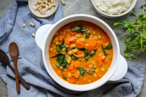 Chickpea Chard and Coconut Curry