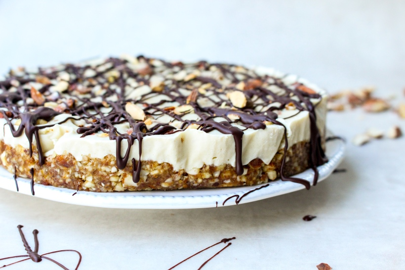 Salted Almond Caramel Cheesecake