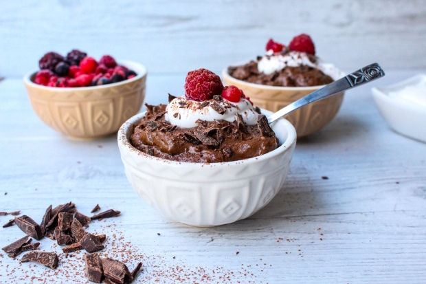 Mint Chocolate Avocado Mousse Pots