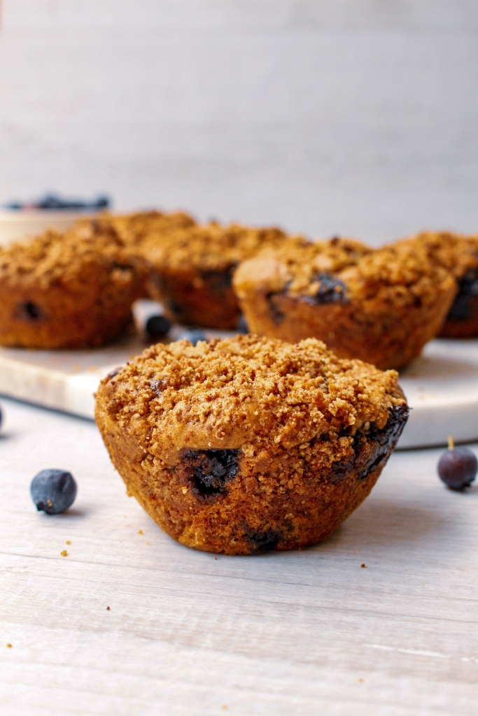 Peanut butter blueberry muffins