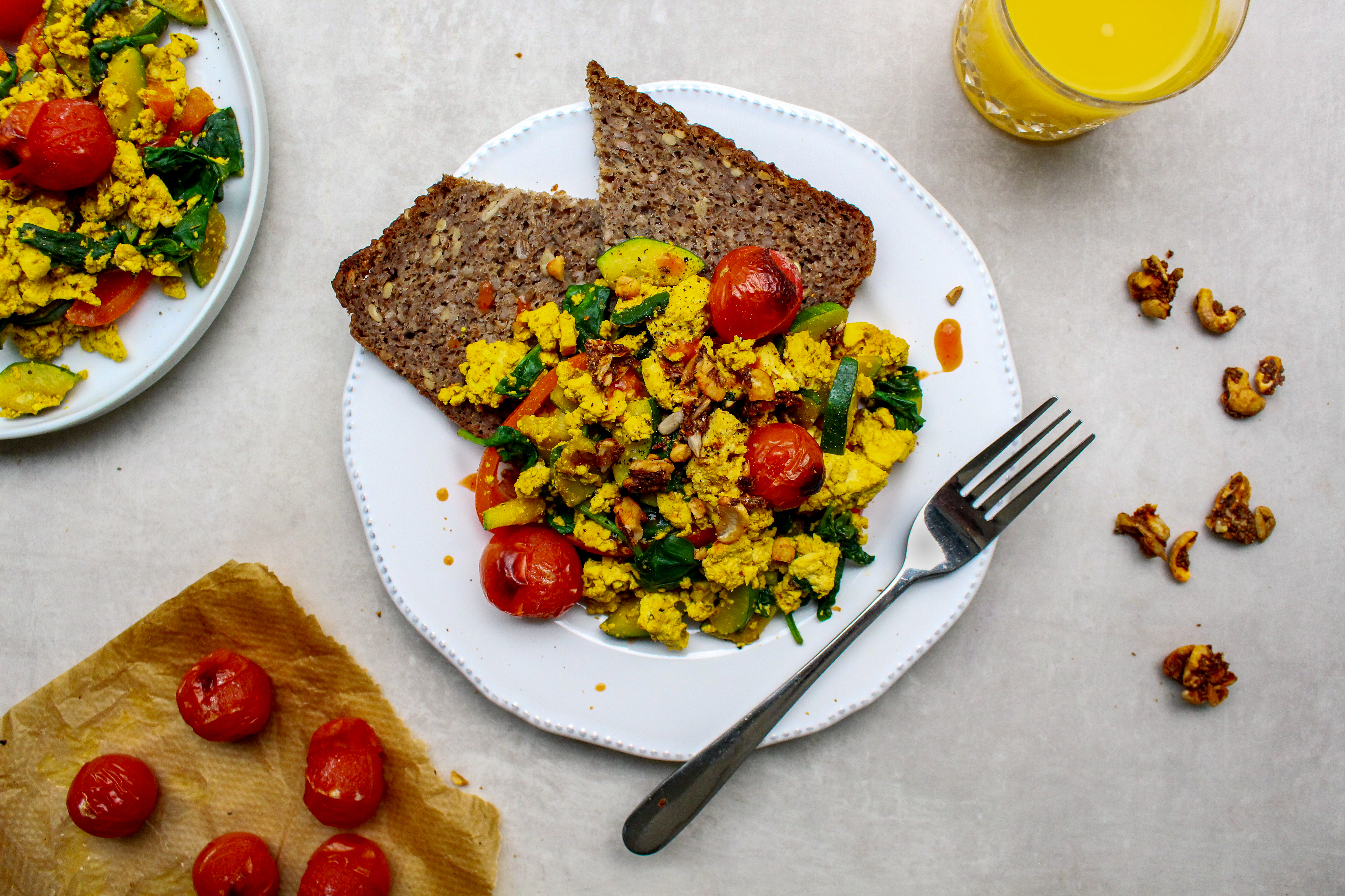 Smoked Paprika Scrambled Tofu on Toast