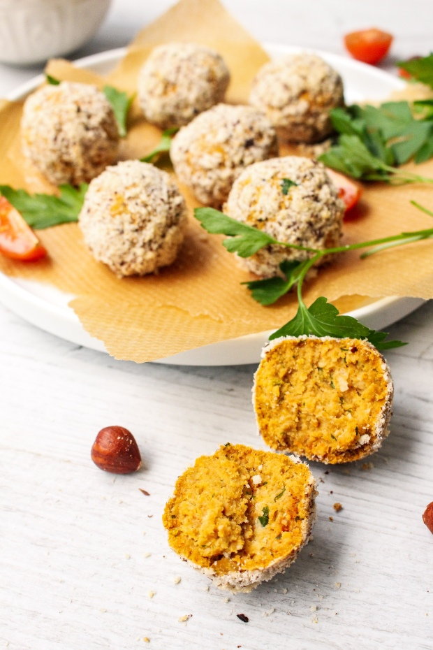Hazelnut and Paprika Falafel