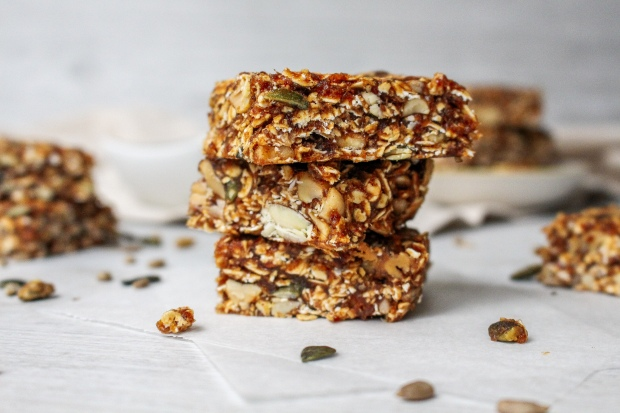 Roasted Nut Granola Bars