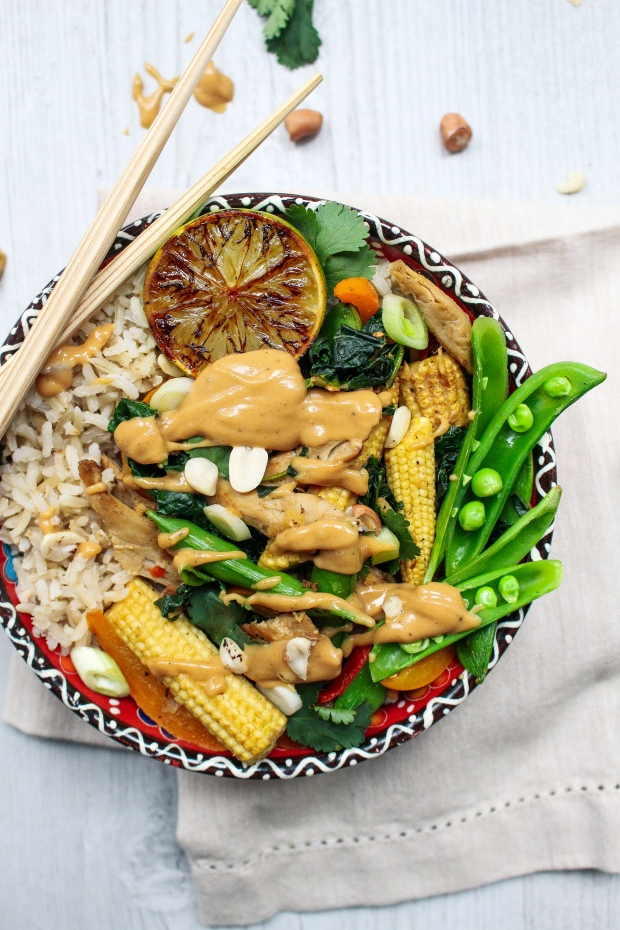 Thai Style Stir Fry with Peanut Satay Sauce