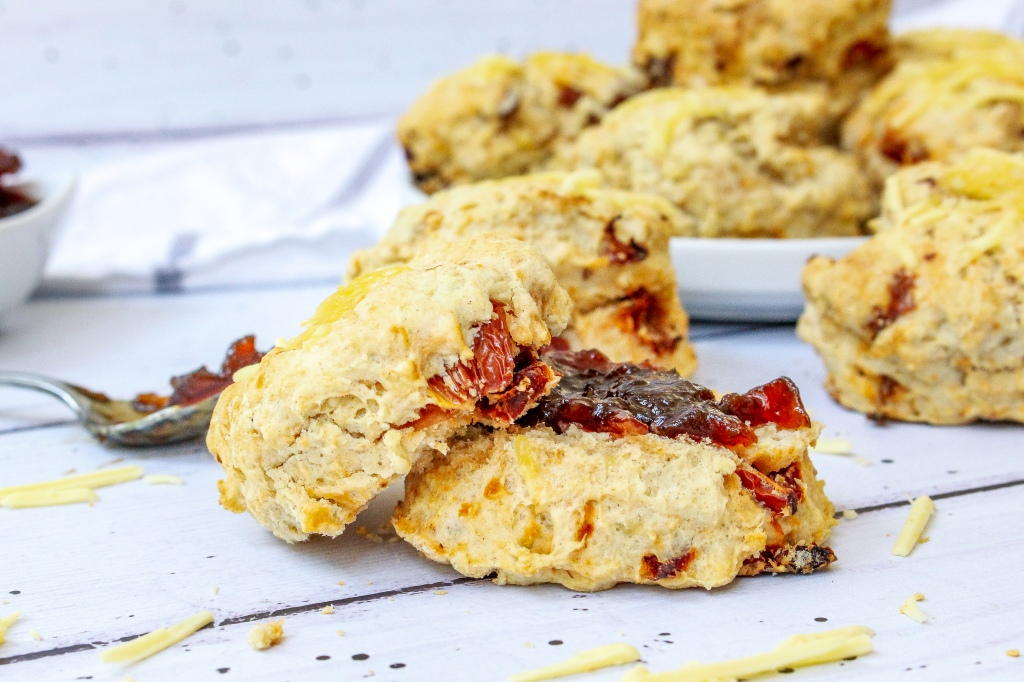 Vegan Cheese and Sundried Tomato Scones