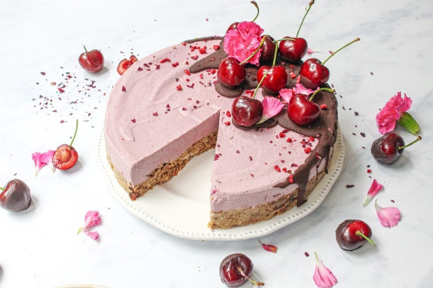 Raw Cherry Chocolate Baobab Cheesecake