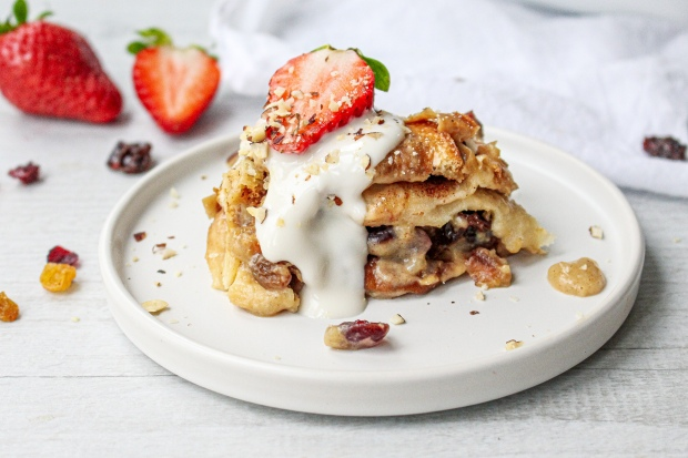 Vegan Cinnamon and Cardamom Bread and Butter Pudding
