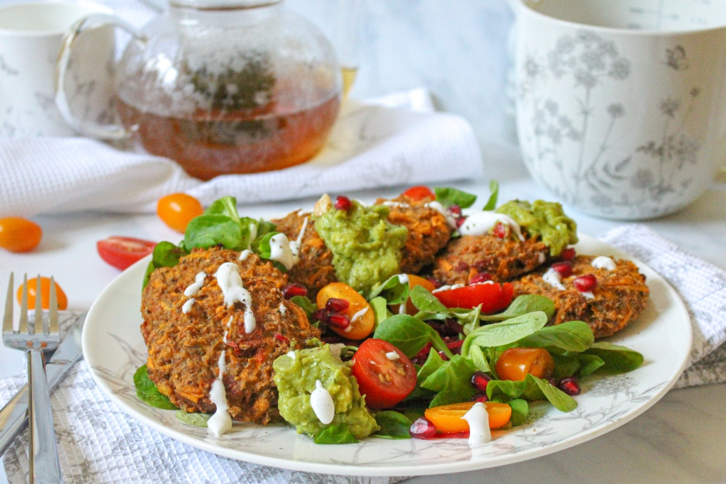 Cauliflower and Sun Dried Tomato Breakfast Fritters