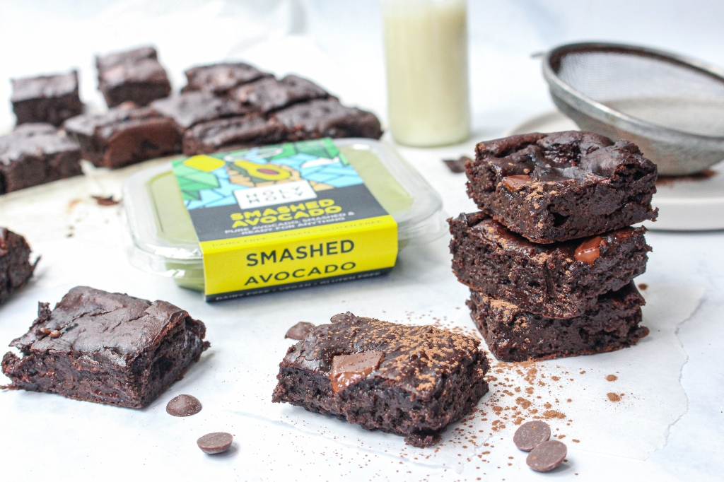 Fudgy Chocolate Avocado Brownies