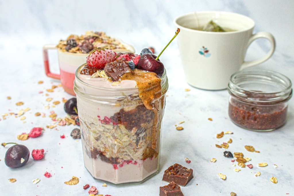 Very Berry Cherry Bircher Jar