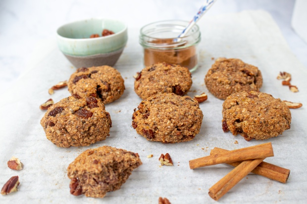 Sultana and Pecan Pumpkin Pie Spice Cookies