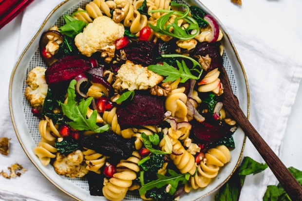 Roasted Cauliflower and Beetroot Pasta
