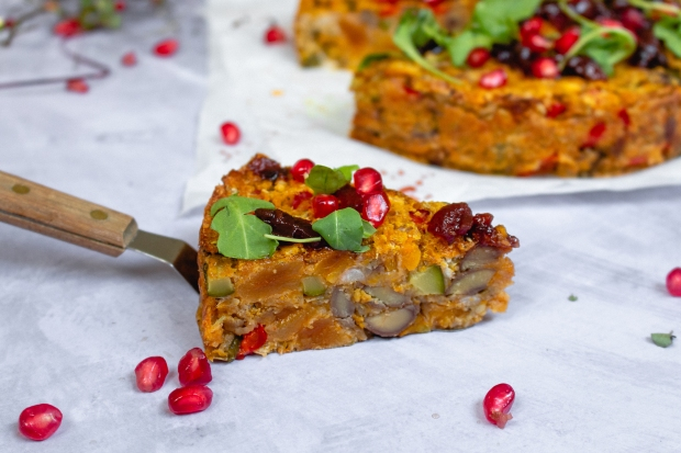 Vegan Roasted Butternut Squash Nut Roast