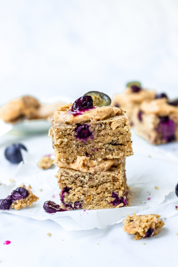 Blueberry and Almond Cookie Bars