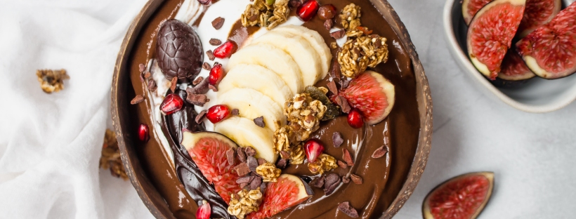 Cacao and Reishi Thickest Chocolate Smoothie Bowl