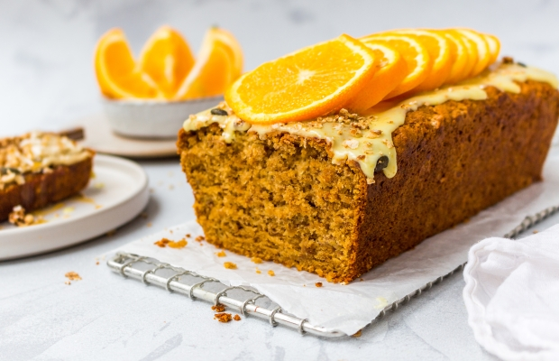 Sticky Orange Banana Bread