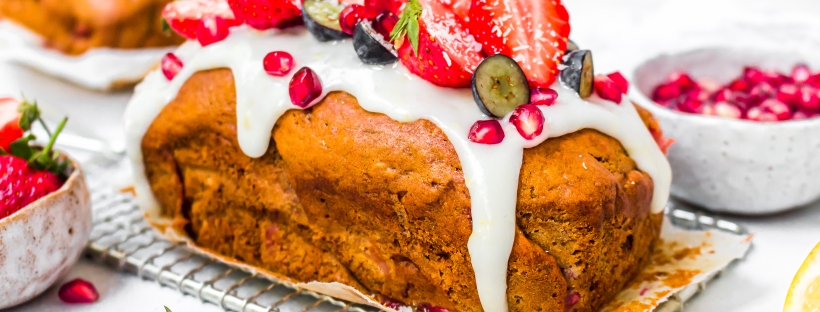 Strawberry Lemon Banana Bread (Vegan GF)