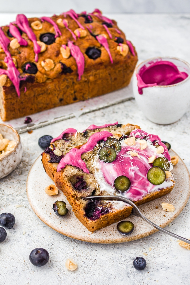 Blueberry and Hazelnut Banana Bread