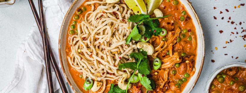 Jackfruit and Sun-Dried Tomato Curry Noodles