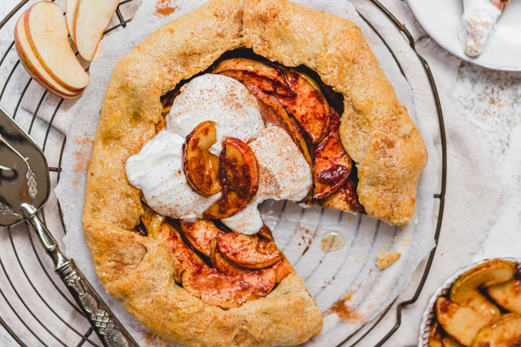 Sticky Cinnamon Apple Galette