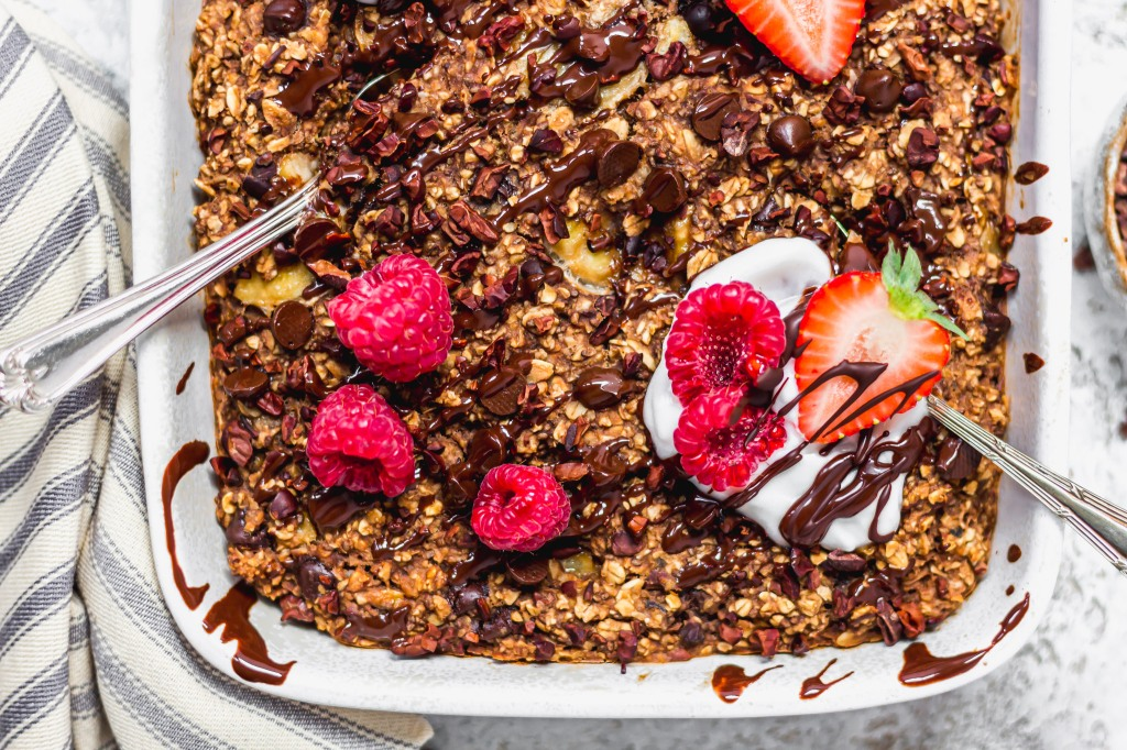 Triple Chocolate Brownie Baked Oats