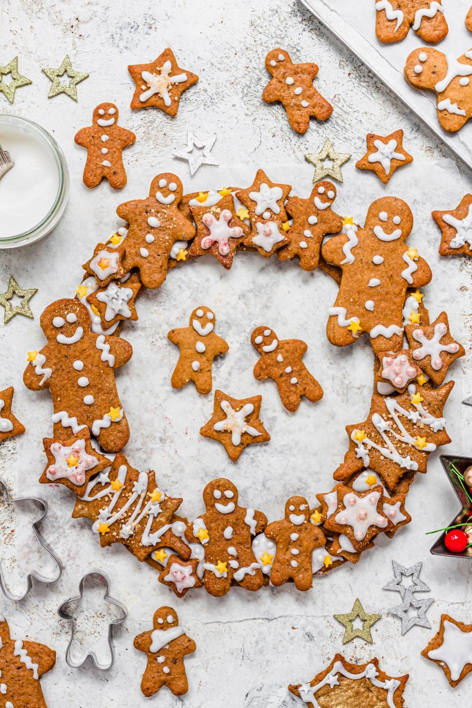 Vegan Gingerbread Wreath and Shapes