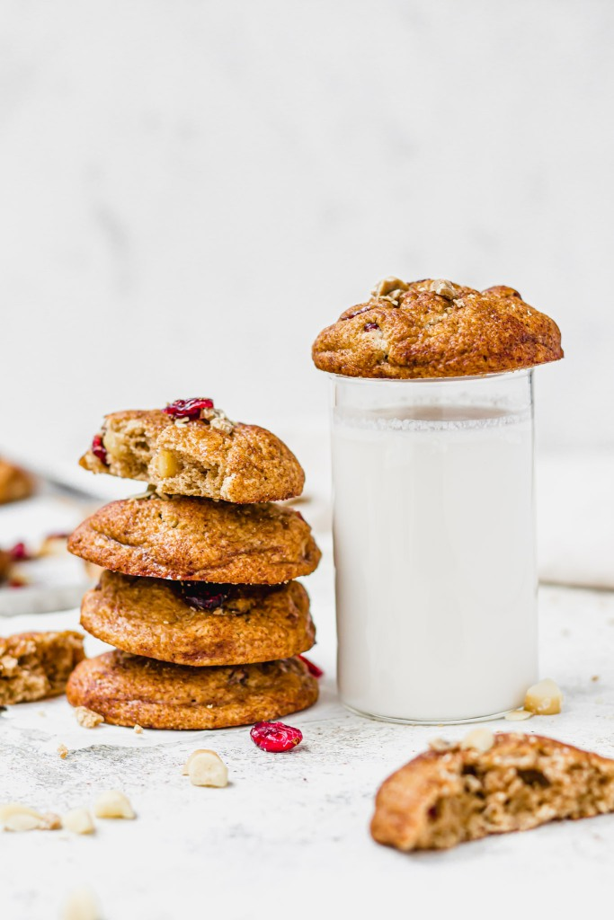 White Chocolate Macadamia Cranberry Snickerdoodle Cookies