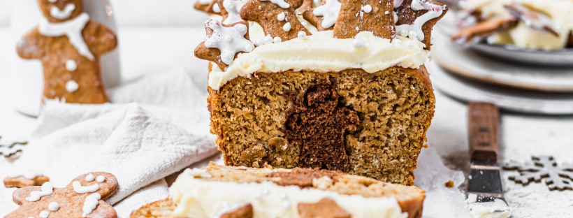 Hidden Gingerbread Banana Bread
