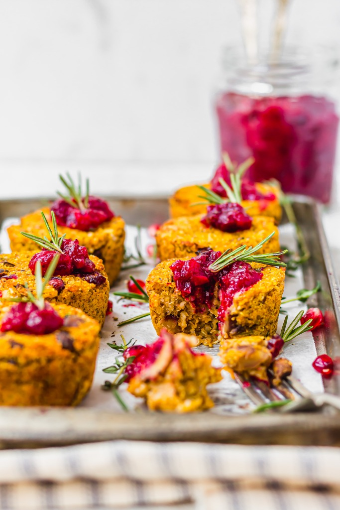 Mini Butternut Squash Nut Roast Cups