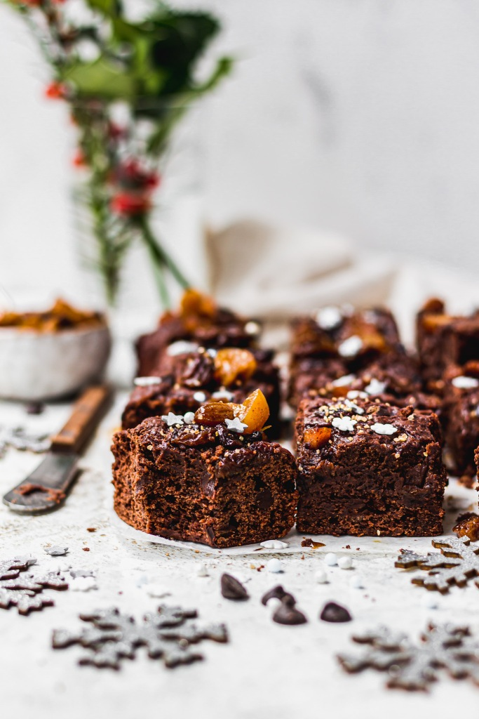 Mulled Wine Mince Pie Brownies