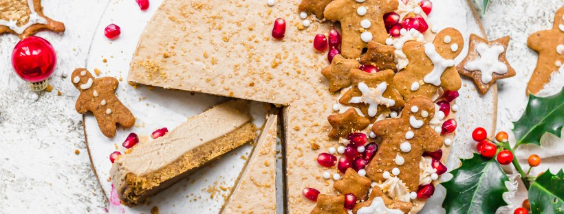 No-Bake Vegan Gingerbread Cheesecake