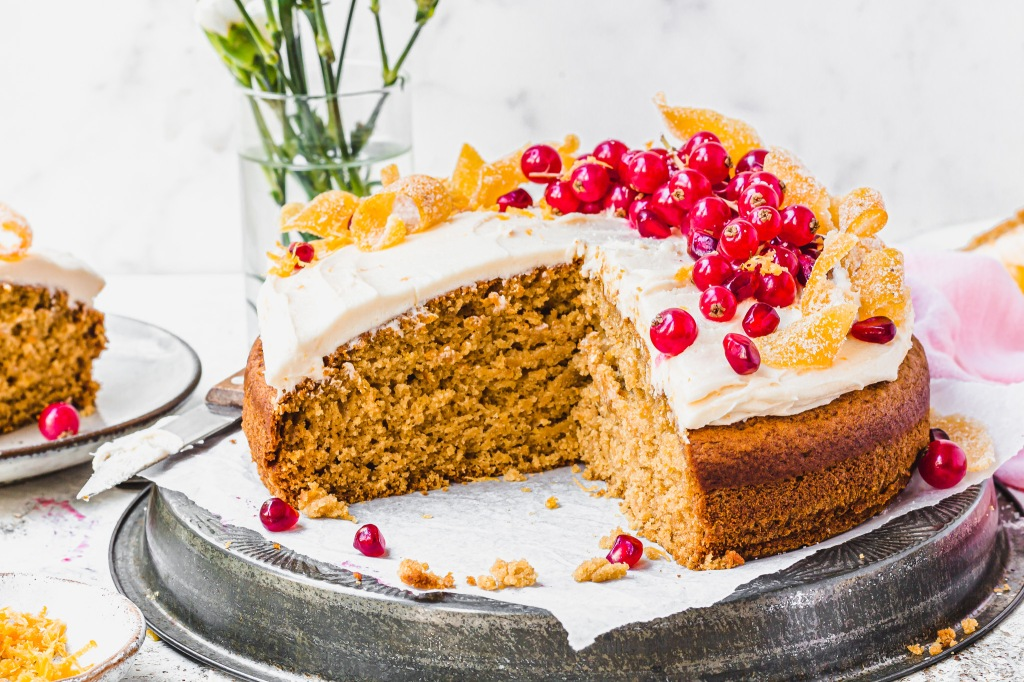 Grapefruit Olive Oil Cake with Candied Grapefruit