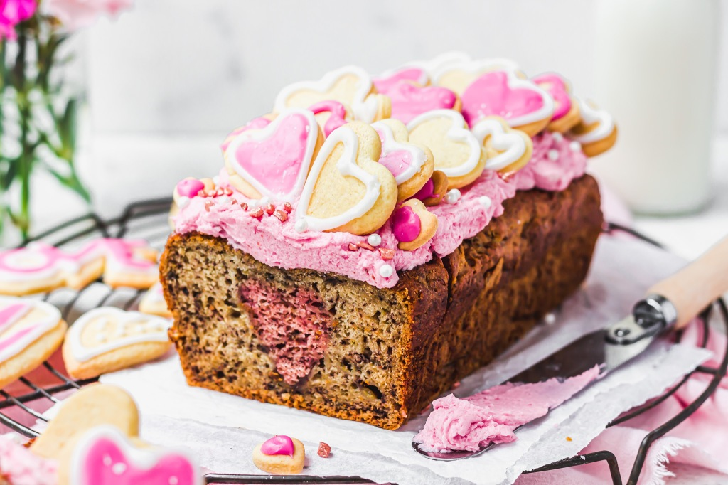 Valentines Day Banana Bread
