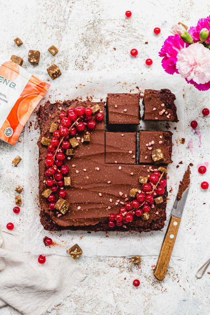 Sweet Potato Chocolate Cinnamon Fudge Brownies