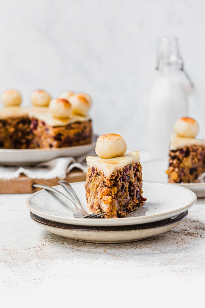 Vegan Maple Simnel Cake