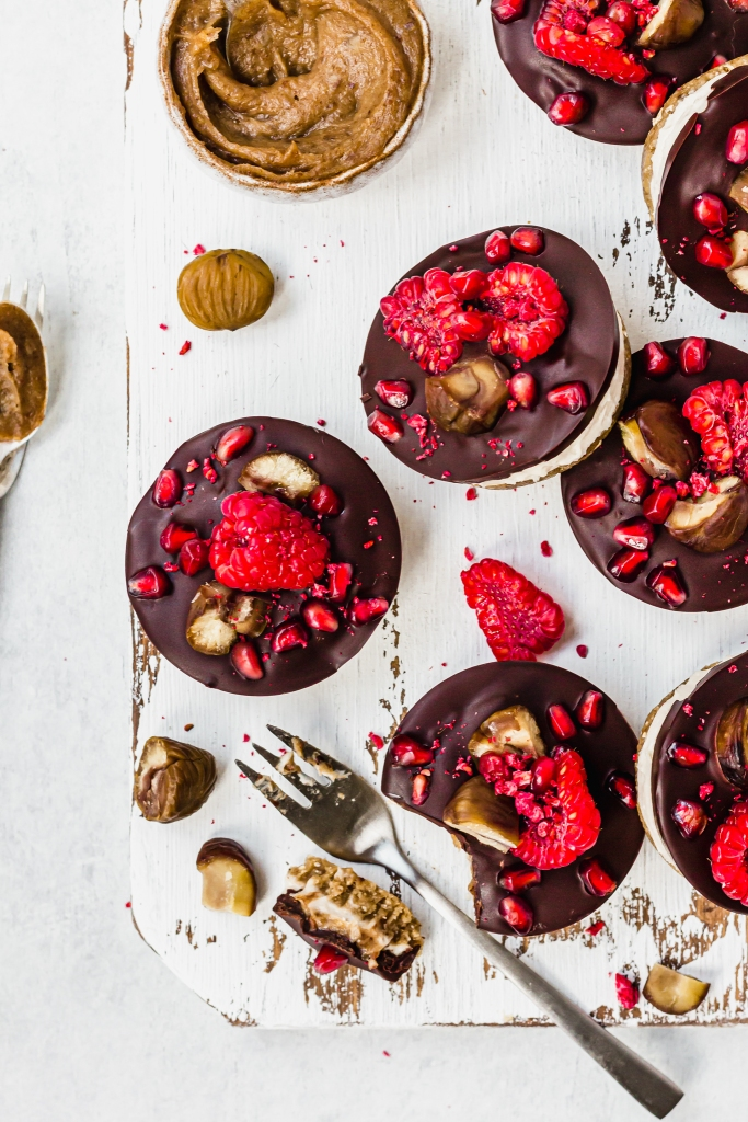Mini Chocolate Chestnut Cheesecakes