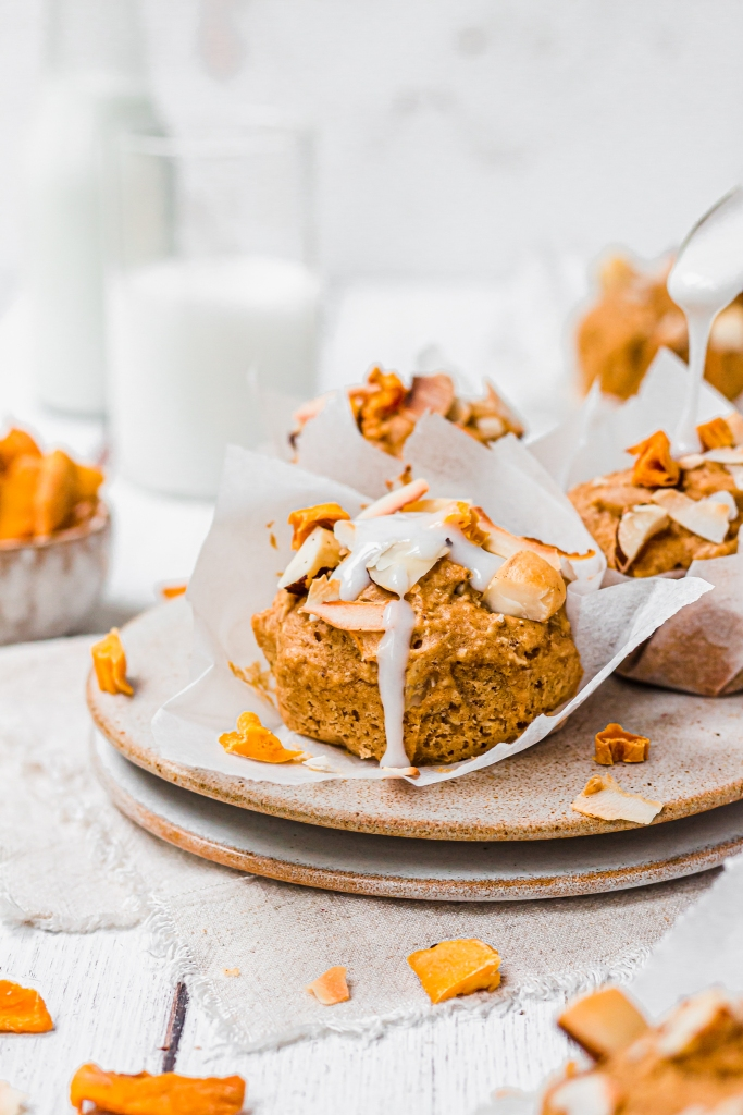 Coconut Mango and Brazil Nut Muffins