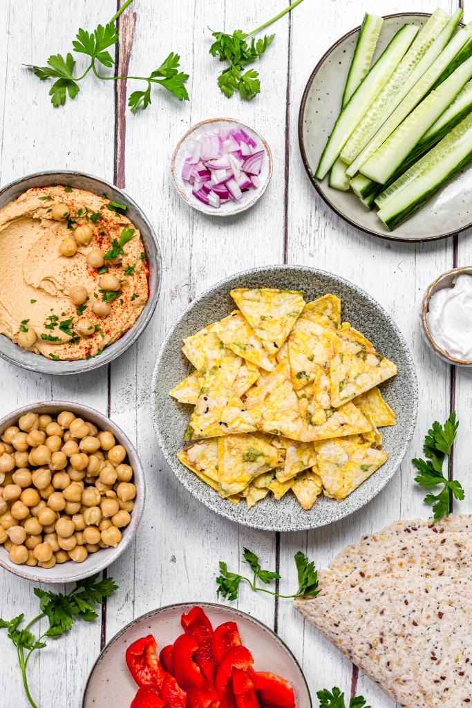 Smashed Chickpea Crunch Wraps